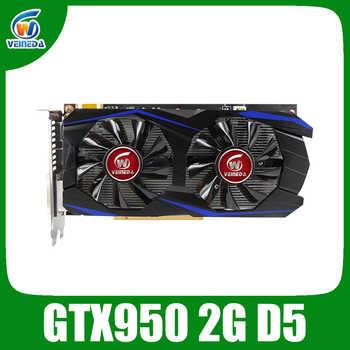 VEINEDA Scheda grafica PCI-E GTX 950 2GB DDR5 128Bit Placa de Video carte graphique Scheda Video per nVIDIA Geforece giochi