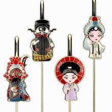Tangfoo Metal Peking Opera Chealrom School Handicraft Gift Stationery Bookmarks 1/2/4 PCS Gifts
