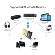 Wireless Bluetooth 4.0 USB Bluetooth Dongle Music Sound Bluetooth Receiver Transmitter 2 in 1 Adapter For PC Laptop Computer(China)