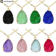 The new fashion personality contracted irregular imitation crystal alloy pendant necklace female jewelry wholesale 2015 new arrival fashion alloy necklace cicada pendant necklace wholesale