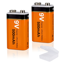 9V 6F22 Oplaadbare Batterij 500Mah Li Ion Liion Li Ion Lithium 9V Batterijen Voor Microfoon Afstandsbediening Ktv metaaldetector