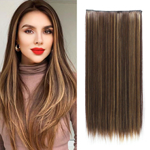 HUAYA 5 Clips One-Piece Natural Long Silky Straight Hair Extention