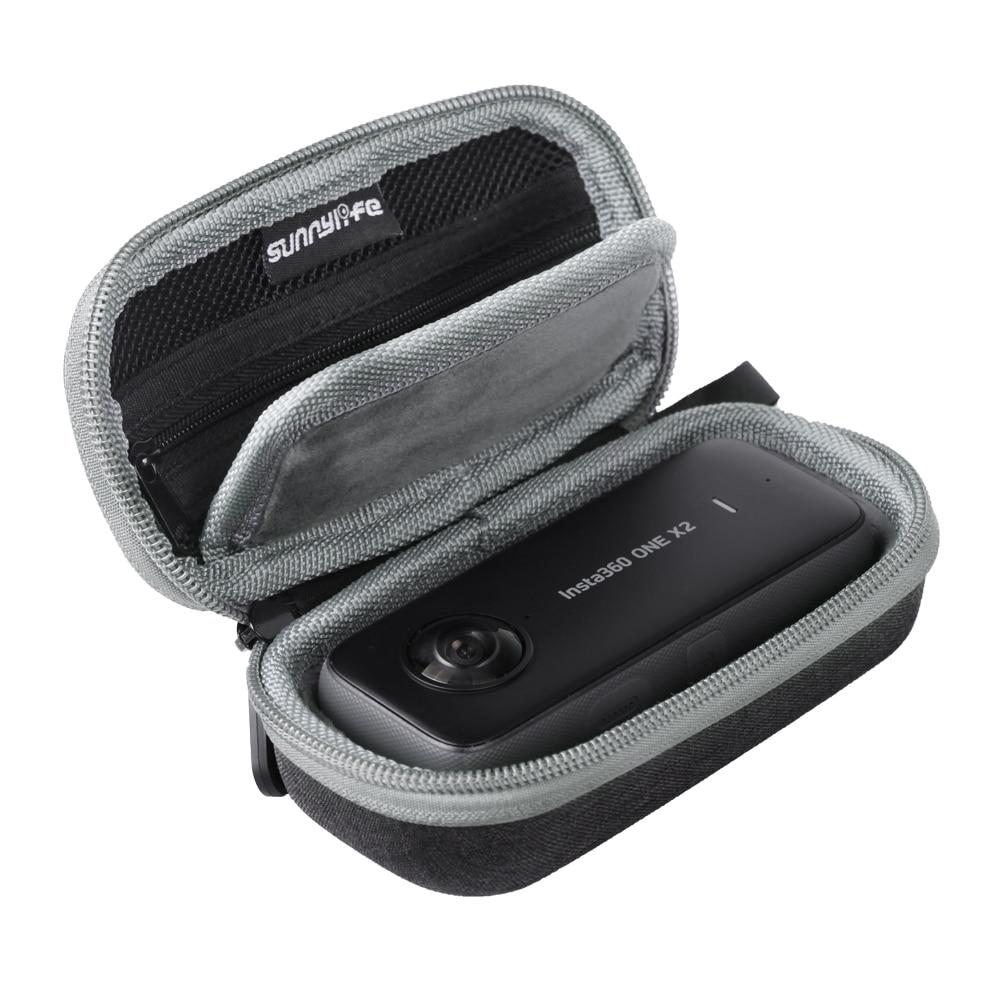 Портативный чехол SUNNYLIFE для Insta360 ONE X2/X, аксессуары для мини камеры|Аксессуары для видеокамер 360°|   | АлиЭкспресс