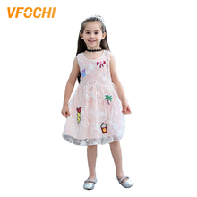 VFOCHI 2019 Girl Party Dresses Summer Cute Girls Clothes Sleeveless Lace Baby  Kids For 2-10Y Wedding