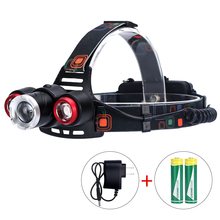 T25 Zooming Led Long Shooting Headlight T6 Bead 3 LEDS 4 Modes Lantern Camping Headlamp for Hiking Fishing portable zooming xml t6 led headlamp waterproof zoom fishing headlights camping hiking flashlight with usb cable