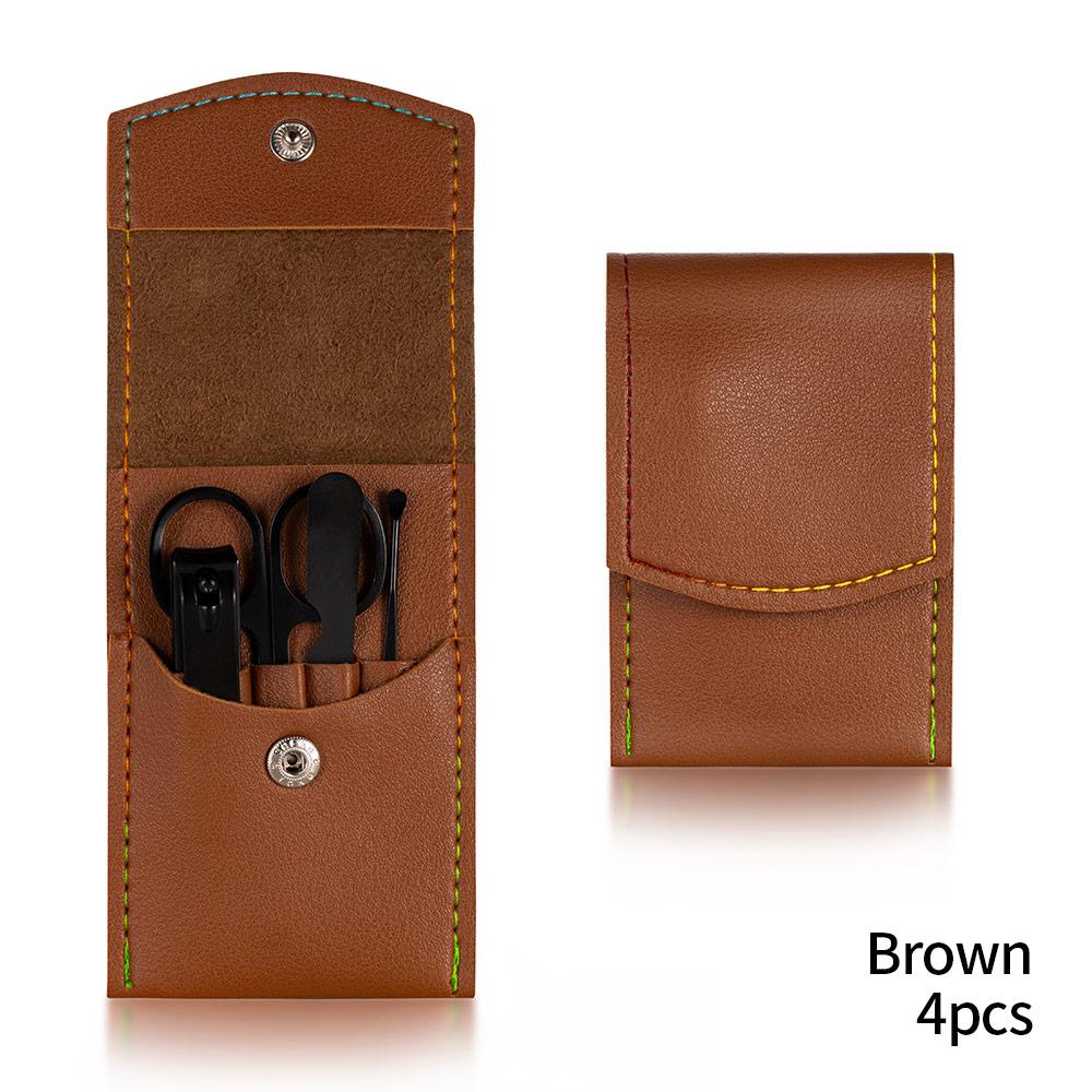 4PCS Dark Brown