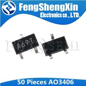 50 sztuk AO3406 SOT-23 A69T 3406 SOT SOT23 MOSFET N-CH 30 V 3.6A