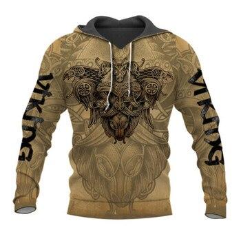 Viking Odin 3D Printed Jacket Men/women Harajuku Hoodie Unisex Casual Streetwear Sweatshirt Pullover sudadera hombre AD040 1