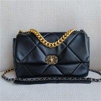 New Arrival Genuine Leather Luxury Women's Handbag Sheepskin Leather Shoulder Crossbody Bag Chain Shoulder Strap Fashion Design