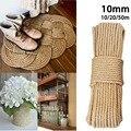 10mm 10-50m cordas de juta fio de cânhamo natural diy nordic decoração para casa gato animal de estimação coçar