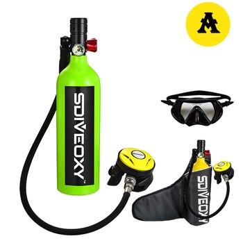 diving equipment SDIVEOXY 700 1L diving oxygen tank underwater respirator scuba diving equipment small oxygen tank water sports цена 2017