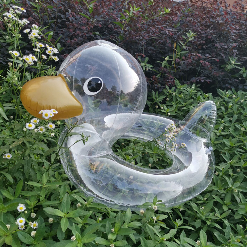 Duck Kids Swimming Ring Inflatable Tube Safty Baby Float Circle Swimming Pool Accessories Child Neck Rings For Water Play Tools
