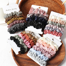 4 10pcs /Set Scrunchie Hair Ring Candy Color Hair Ties Rope Winter Women Ponytail Holder Hair Accessories Girls Hairband Gifts-in Women's Hair Accessories from Apparel Accessories on AliExpress