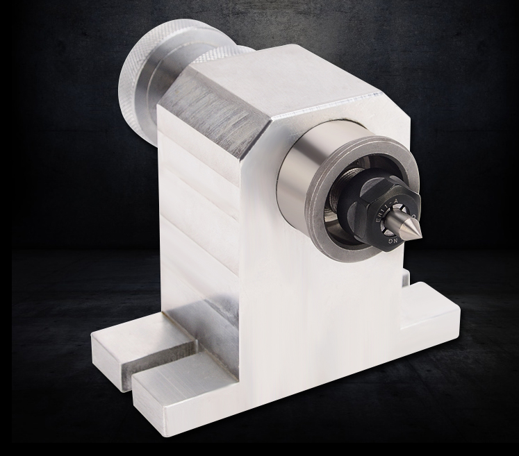 High Precision Adjustable Activity Engraving Machine Tailstock Thimble Tail Top A-axis Rotary Shaft Fittings Fourth Shaft