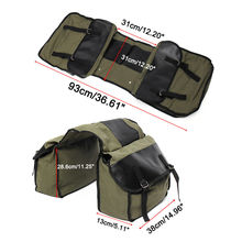 Adjustable Cycling Motorcycle Bike Saddlebags Equine Back Pack Canvas Baggage