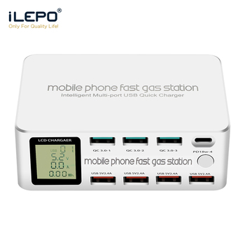 ilepo-100w-8-ports-usb-charger-quick-charge-3-0-pd-3-0-fast-charge-adapter-lcd-multi-usb-charger-station-for-iphone-x-xs-samsung