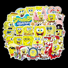 50 Pack SpongeBob Stickers Cartoon Graffiti Pegatinas for Motorcycle Notebook Laptop Luggage Bicycle Skateboard