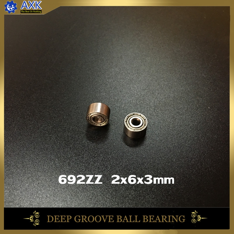 10pcs 692ZZ 2x6x3mm thin wall deep groove ball bearing 2*6*3mm
