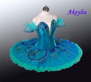 Image 2 - Yeşil gözleme Tutu sahne bale kostümü Esmeralda profesyonel bale giyim Nutracker el yapımı çocuk balerin Tutu