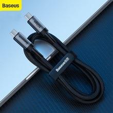 Baseus 100W USB כבל סוג C כדי סוג C מהר יותר מטען כבל USB כבל מהיר מטען חוט עבור סמסונג לxiaomi עבור Huawei