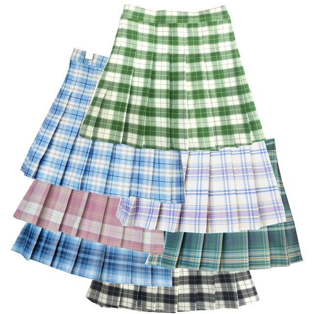 Striped pleated skirt 2021 new female spring and summer