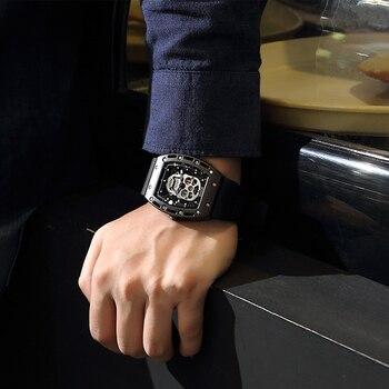 цена BAOGELA Top Brand Men Fashion Quartz Watch Mens Luxury Silver Skull Wristwatch Male Waterproof Clock Relogio Masculino онлайн в 2017 году