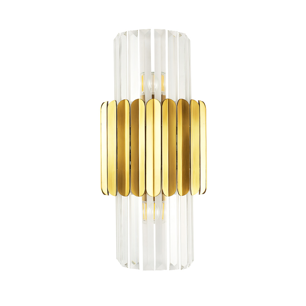 Fss modern gold crystal bedside wall light stainless steel wall sconce led lamp luxury wall lights