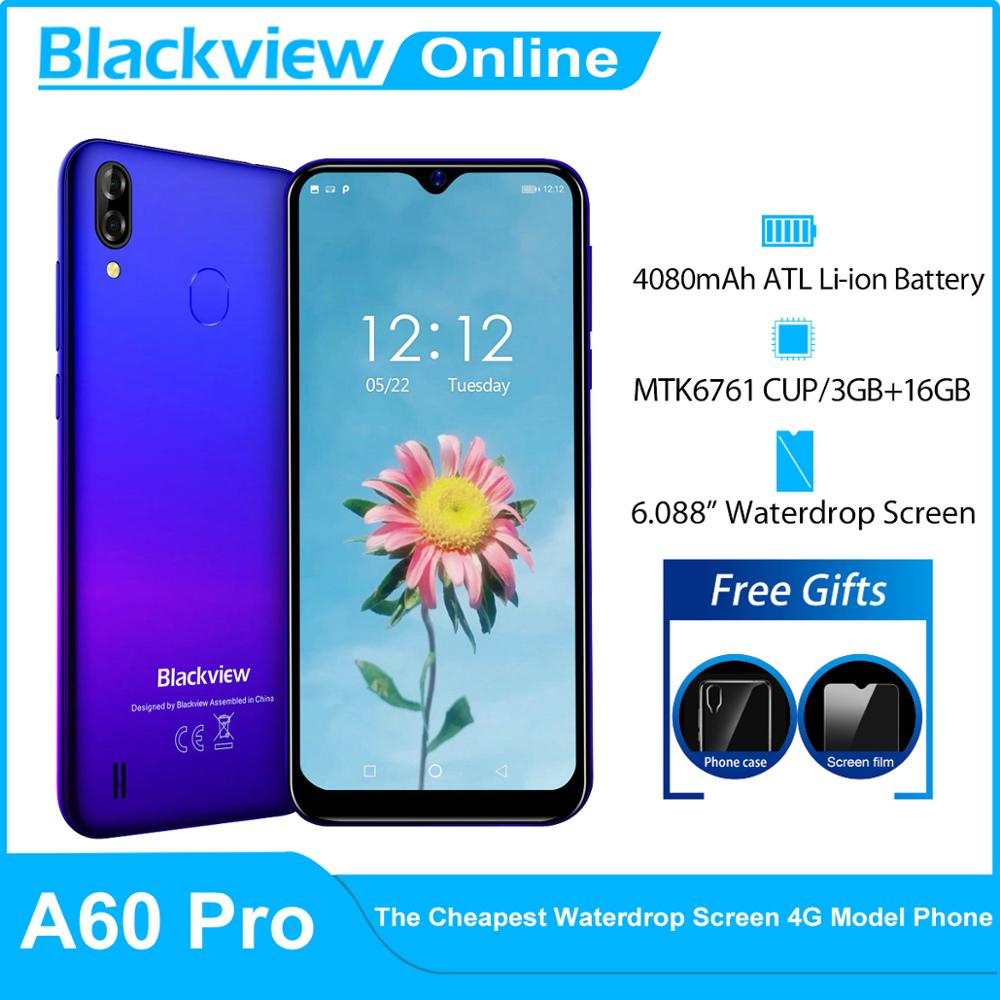Blackview A60 Pro Smartphone 16GB 3GB GSM/CDMA/WCDMA/LTE Gorilla Glass Quad Core Face Recognition/fingerprint Recognition
