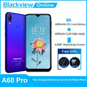 Blackview A60 Pro смартфон MTK6761 4 ядра 6,088 ''в виде капли воды, Экран, 3 Гб оперативной памяти, Оперативная память 16 Гб Встроенная память Android 9,0 Face ID 4G мо...