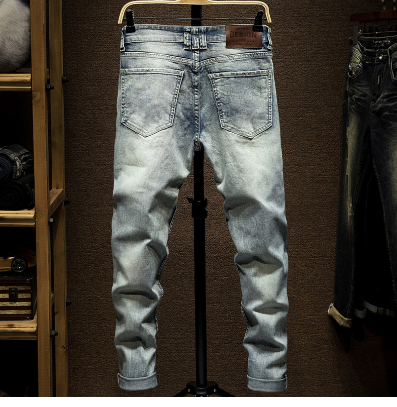 KSTUN Ripped Denim Jeans Men Stretch American Streetwear Fashion Hip Hop Destroyed Holes Washed Mens Punk Jeans Male Skinny Rip Jeans 12