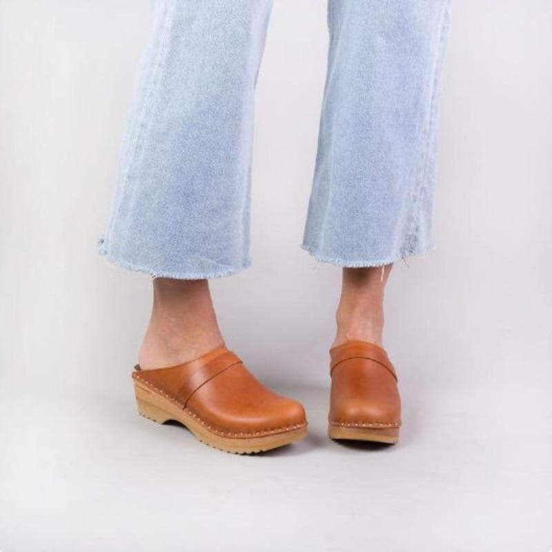 Женские сандалии на нескользящем каблуке, коричневые повседневные босоножки из ПУ кожи, модель 5KE195 на лето, 2021