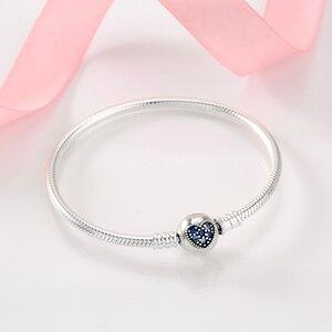 Image 4 - Nowy 925 bransoletki ze srebra wysokiej próby okrągły kształt łańcucha węża dla kobiet akcesoria biżuteria walentynki dzień matki prezent