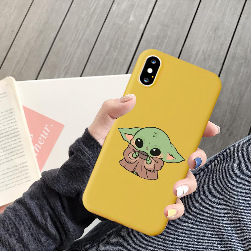 Cartoon Cute Funny Baby meme Silicone Soft Shell Phone Case for IPhone 11 Pro Xs Max X Xr 7 8 6 6s Plus Phone Back Cover image