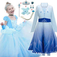 Elsa Dress Christmas Costume Kids Dresses For Girls Cinderella Dress Vestidos Children Snow White Princess Dress Rapunzel Aurora