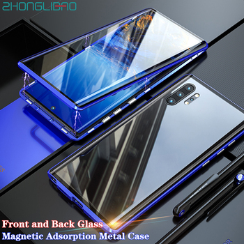 Screen Protector Case for Samsung Galaxy Note 10 Plus Note 10 10+ Pro Front Back Curved Glass Magnetic Adsorption Metal Cover