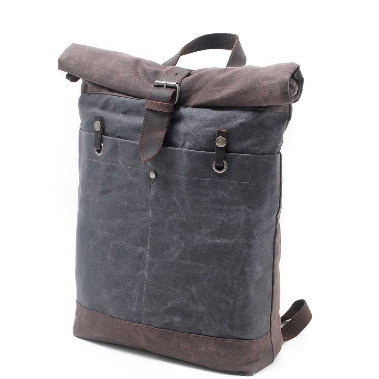 Virginland New Style Canvas Backpack Retro Backpack Waterproof Outdoor Travel Bag College Wave Bag