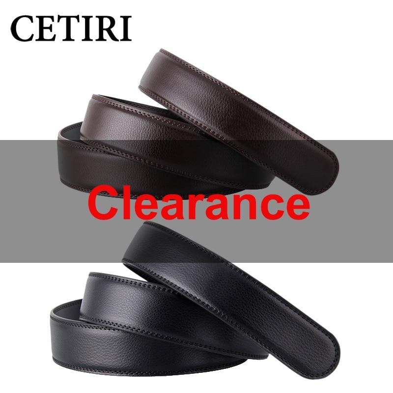 No Buckle 3.5cm Wide Real Genuine Leather   Belt   Without Automatic Buckle Strap Designer   Belts   Men High Quality cinturon hombre