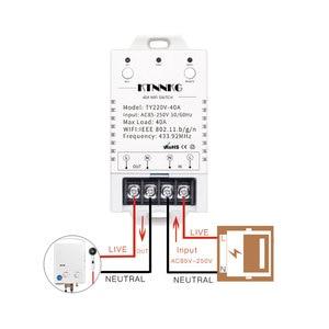 Image 3 - 433Mhz 40A TUYA Smart Life APP WIFI 1Gang 4000watts AC90 250V dernière version contrôle haute puissance climatiseurs, pompes, eau