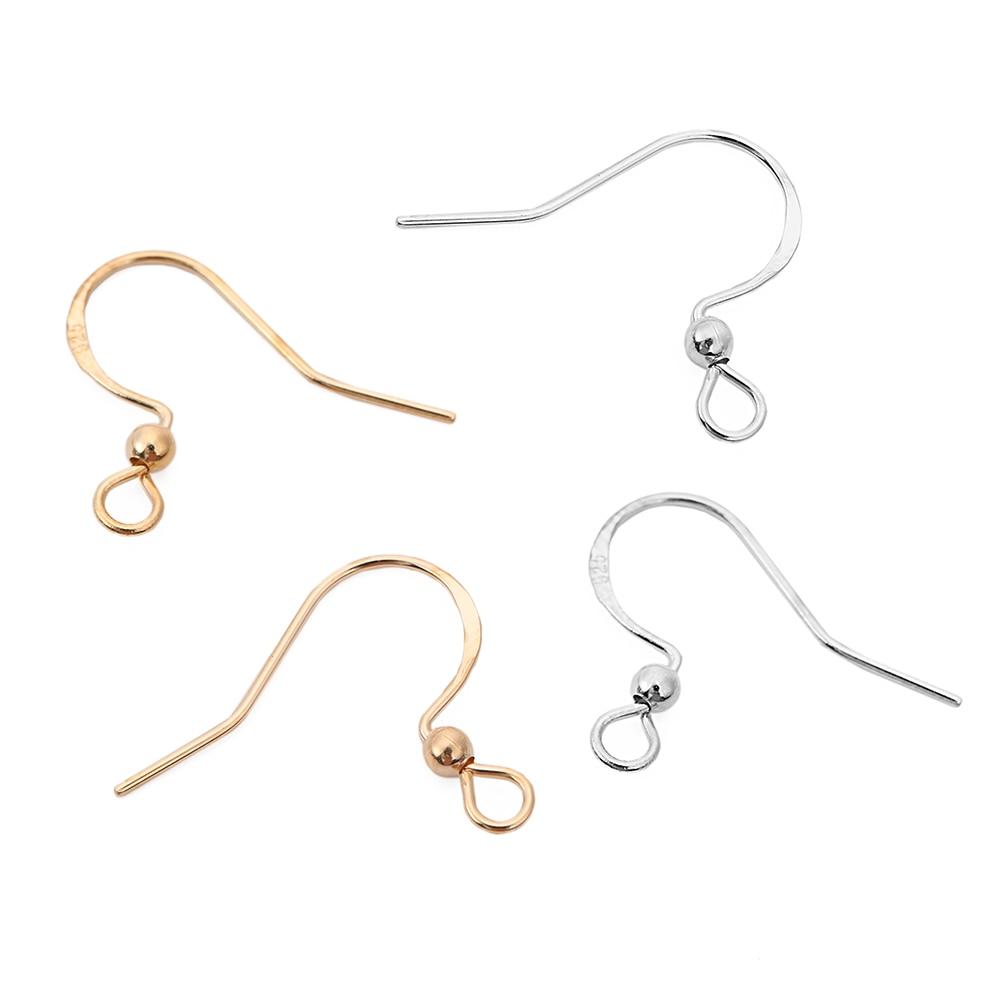 Earring Hook Wire Hypoallergenic DIY 925 Sterling Silver Jewellery Ear Wire pk10