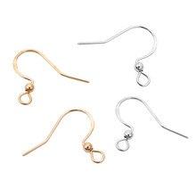 Lot de boucles d'oreilles en argent Sterling 925, crochets poisson en argent KC or, pour bricolage, bijoux, 50 pièces/lot