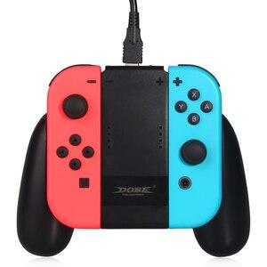Image 4 - 닌텐도 스위치 ns n 스위치 조이 콘 컨트롤러에 대한 새로운 충전 핸드 그립 게임 패드 스탠드 홀더
