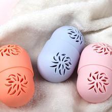 New 1pcs Empty Cosmetic Puff Case Makeup Sponge Holder Egg Shaped Dustproof Sili
