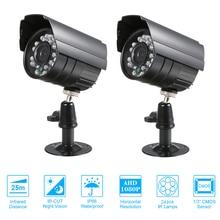 2 قطعة كاميرا تلفزيونات الدوائر المغلقة اللون 1080P عالية الدقة 24 مصباح Nightvison طقس داخلي كاميرا مصغرة التناظرية الأمن كاميرا