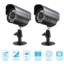 Bộ 2 Camera Quan Sát Màu 1080P Độ Phân Giải Cao 24 Đèn Nightvison Chống Chịu Thời Tiết Trong Nhà Bullet Camera Analog Camera An Ninh