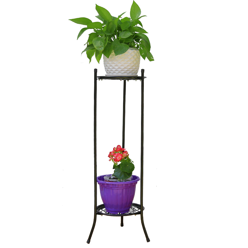 Multi-storey Balcony To Ground Green Luo Chlorophytum Meaty Flowerpot Frame European Style Indoor A Living Room Flower Airs