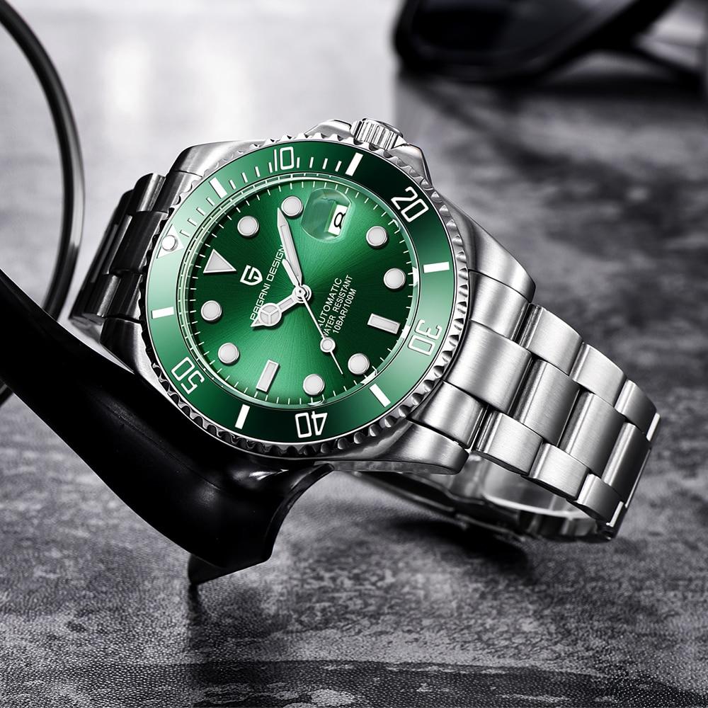 Pagani design marca men aço inoxidável à prova dwaterproof água negócios esporte mecânico relógio de pulso relógios de luxo masculino automático