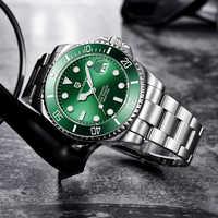 Reloj de pulsera mecánico de marca PAGANI de acero inoxidable resistente al agua para hombre, de lujo, para hombre, reloj automático