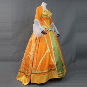 Image 2 - Top Quality 2019 Movie Aladdin Jasmine Princess Orange Dress Women Girl Halloween Party Cosplay Costume Arabian Royal Gown Dress