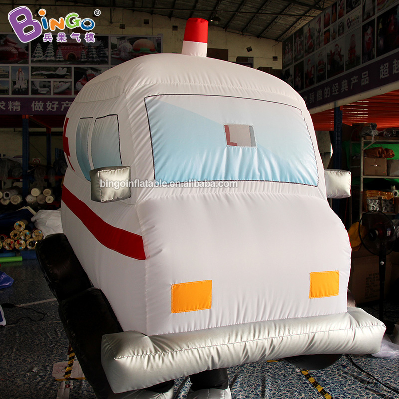 2m High Inflatable Ambulance Car Cartoon Party Gift/Blow-up Fun Costume Kids Entainment Toy