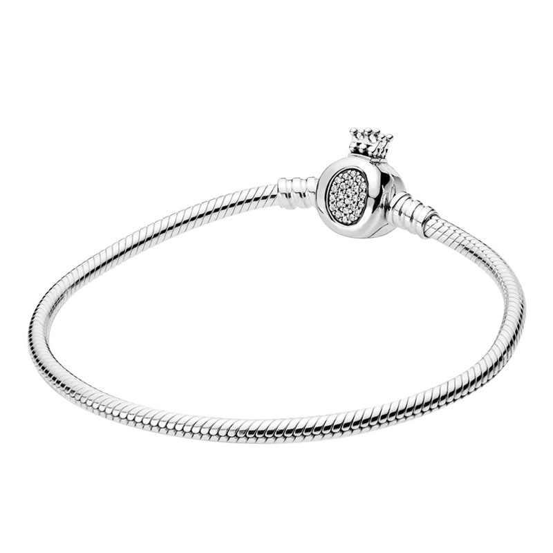 2020 yeni 925 ayar gümüş bilezik moda bileklik DIY takı sevgililer günü doğum günü hediyeleri yılan bilezikler kadınlar için